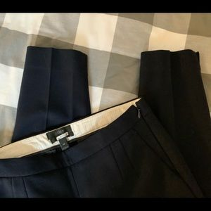 J Crew Martie Wool Blend Pant, Navy, Size 4P